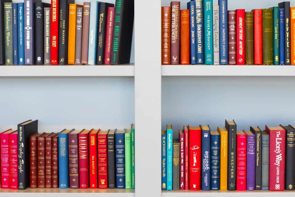 Shelves full of story books